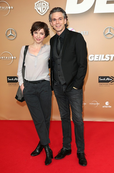 MUNICH, GERMANY - FEBRUARY 23:  Julia Koschitz and Matthias Beier during the German premiere of the film 'Der geilste Tag' on February 23, 2016 in Munich, Germany.  (Photo by Gisela Schober/Getty Images)